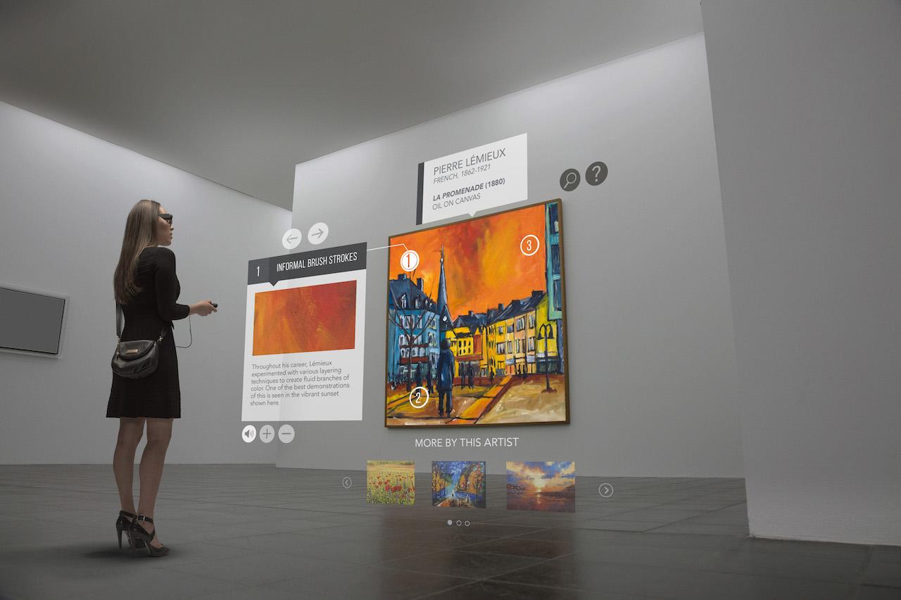 Visite au musée avec Epson